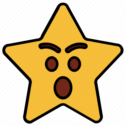 Angry Cartoon Character Emoji Emotion Shock Star Icon Download On Iconfinder