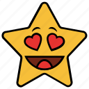 cartoon, character, emoji, emotion, heart, love, star