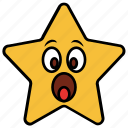 cartoon, character, emoji, emotion, shock, star, surprise