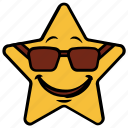 happy, cartoon, emotion, glasses, smile, emoji, star