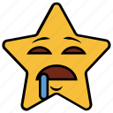 cartoon, character, drooling, emoji, emotion, smiley, star