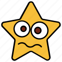 cartoon, character, emoji, emotion, emotional, shock, star