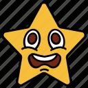cartoon, character, emoji, emotion, sad, shock, star