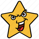 baffled, cartoon, character, emoji, emotion, smiley, star