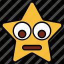 cartoon, character, down eyes, emoji, emotion, smiley, star