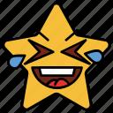 cartoon, emoji, emotion, happy, loud, smile, star