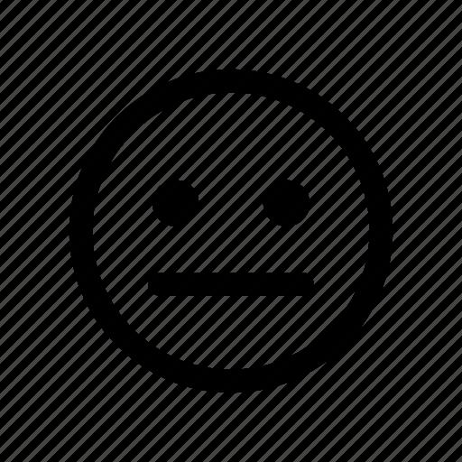 confused, emoji, emoticon, neutral, smiley, undecided, unsure icon