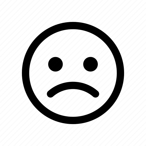 angry, emoji, emoticon, mad, sad, unhappy, upset icon
