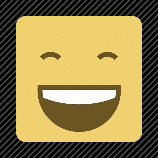 emojis, face, happy, laugh icon