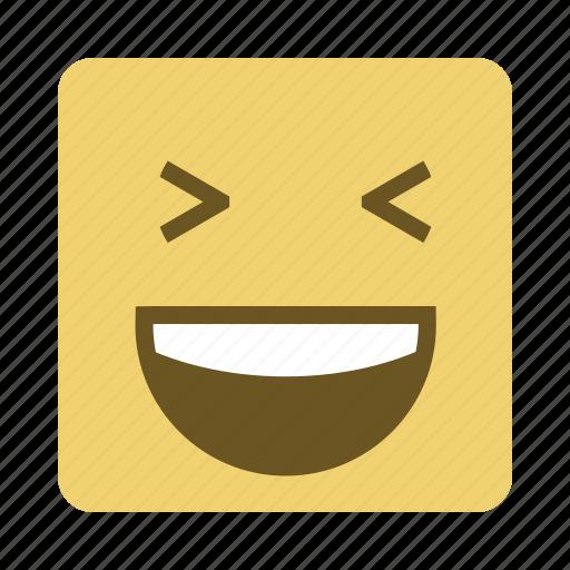 emojis, emoticon, face, laugh icon