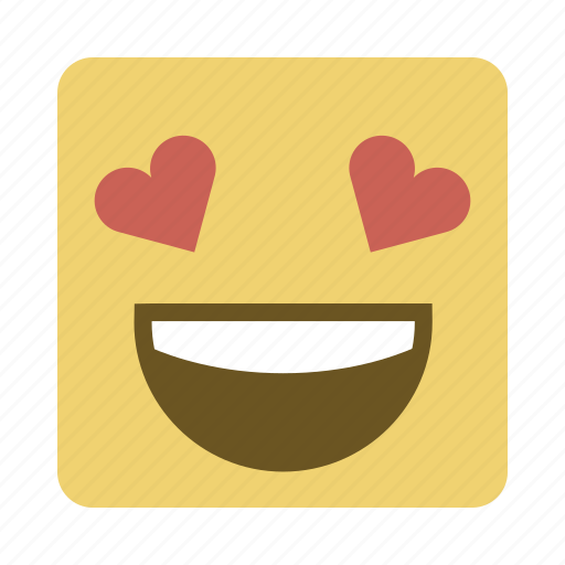 emojis, emoticon, face, love icon