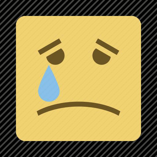 emojis, emoticon, face, sad icon