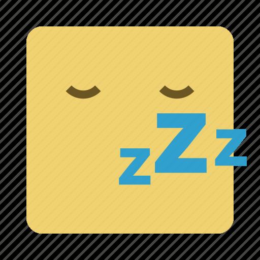 emojis, emoticon, face, sleep icon