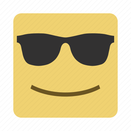 emojis, emoticon, face, smile, sunglasses icon