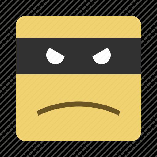 emojis, emoticon, face, thief icon