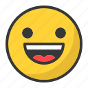 emoji, emoticon, happy, laugh, smile icon