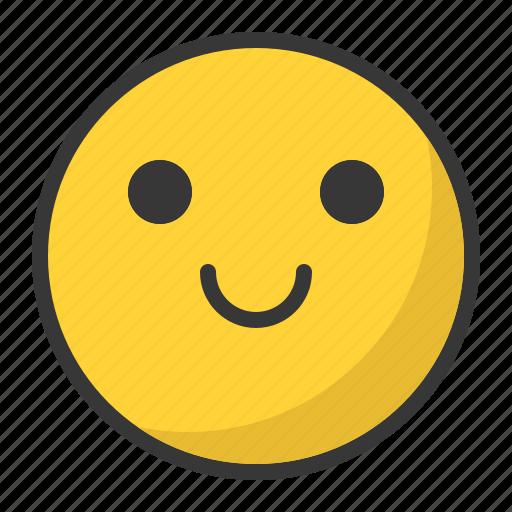 cute, emoji, emoticon, happy, smile icon
