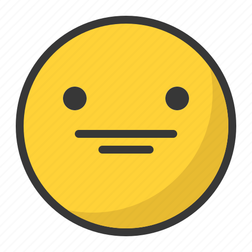 emoji, emoticon, reactionless, staggered, surprised icon