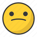 emoji, emoticon, sad icon