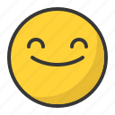emoticon, smile, emoji, satisfied, happy