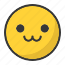 cute, emoji, emoticon, happy icon