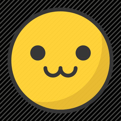 cute, emoji, emoticon, happy icon
