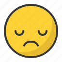 angry, disappointed, emoji, emoticon, sad icon