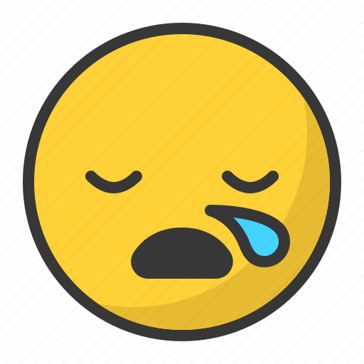drop, emoji, emoticon, sleep, sleepy icon
