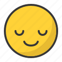 emoticon, smile, emoji, serenity, happy