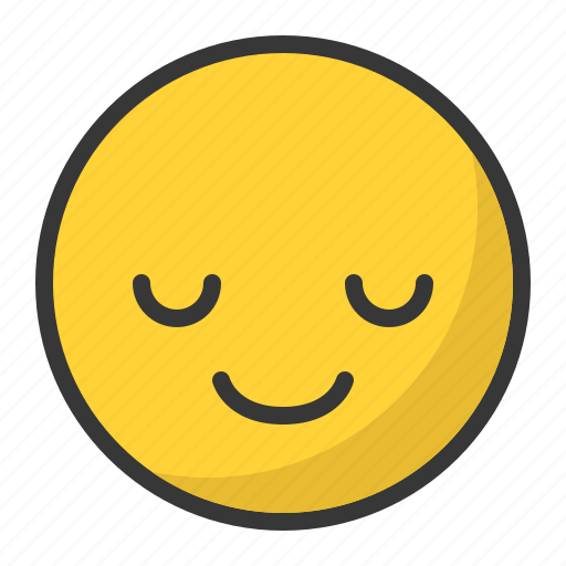 Emoji, emoticon, happy, serenity, smile icon - Download on Iconfinder