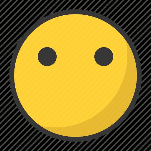 emoji, emoticon, emotionless, faceless icon
