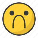 depressed, disappointed, emoji, emoticon, sad icon
