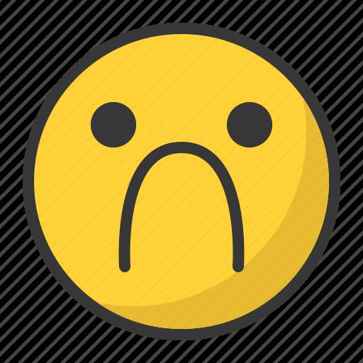 depressed, disappointed, emoji, emoticon, sad icon