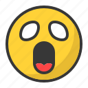 anime, emoji, emoticon, manga, scared, surprised icon