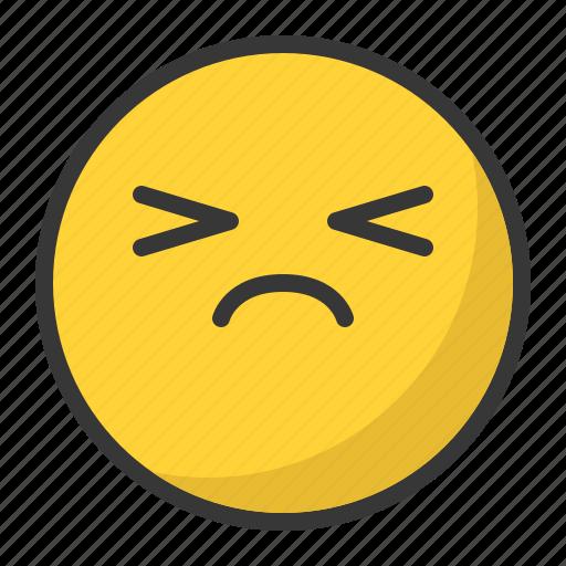 angry, depressed, disappointed, emoji, emoticon, sad icon