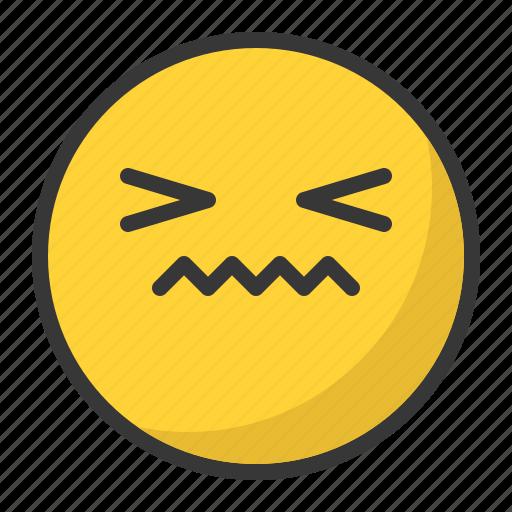 confused, disgusted, emoji, emoticon, sad icon
