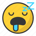 emoji, emoticon, sleep, sleepy, tired icon