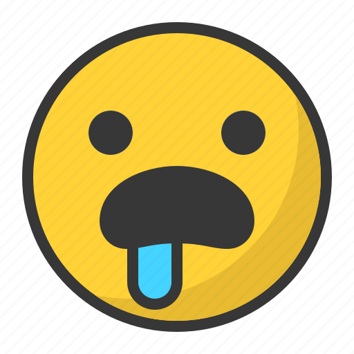 emoji, emoticon, hungry, sad icon