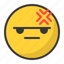 emoticon, angry, mad, bored, disappointed, emoji