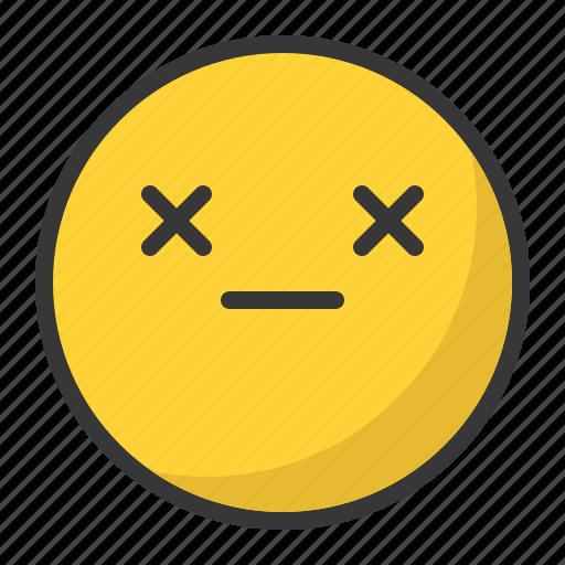 closed, dead, emoji, emoticon, eyes icon