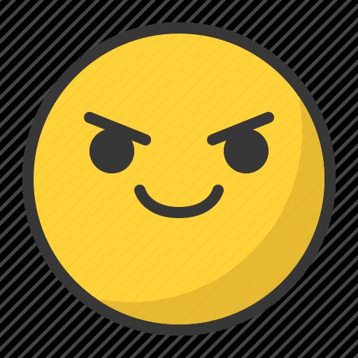 confident, emoji, emoticon, happy, smile icon