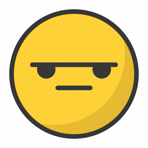 angry, bored, disappointed, emoji, emoticon, mad icon