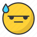 emoticon, angry, drop, mad, bored, emoji