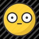 emoji, emoticon, scared, shy, surprised
