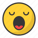 emoji, emoticon, sleep, sleepy, tired, yawn icon