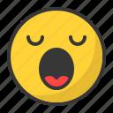 emoji, emoticon, sleep, sleepy, tired, yawn