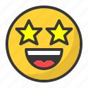 emoji, emoticon, famous, happy, laugh, smile, star icon