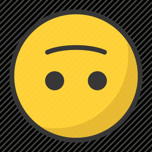down, emoji, emoticon, happ, smile, upside icon