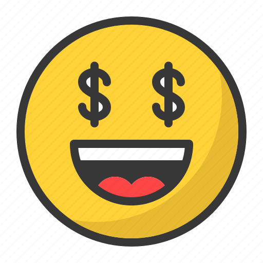 Dollar, emoji, emoticon, happy, money, smile icon - Download on Iconfinder