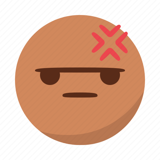 angry, bored, emoji, emoticon, face, mad icon